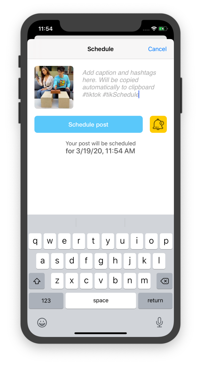 TikTok Scheduler App